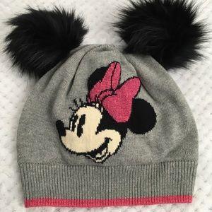 Gap + Disney Minnie Mouse Pom Pom knit winter hat